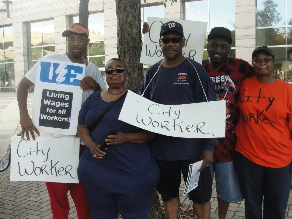 Workers Charlotte Aug 13 Picket