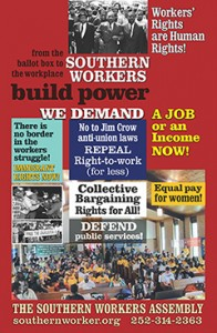 SWA Poster - Southern Workers Build Power