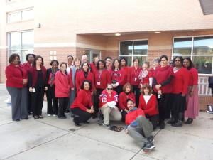 Teacher's participate in Nov 4 walk-in before school at Guilford Elementary in Greensboro NC
