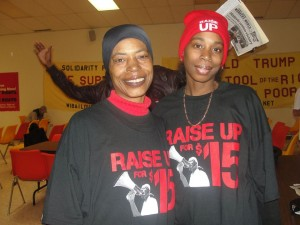 Rolanda McMillian, McDonald's worker from Richmond, VA and Raise Up for 15 member (photo credit: Wisconsin Bailout the People Movement)