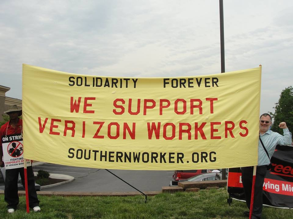 SWA Banner Verizon strike Roanoke 5-5-16