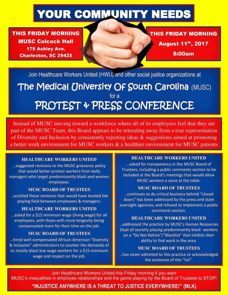 MUSC Charleston Rally 8-11-17