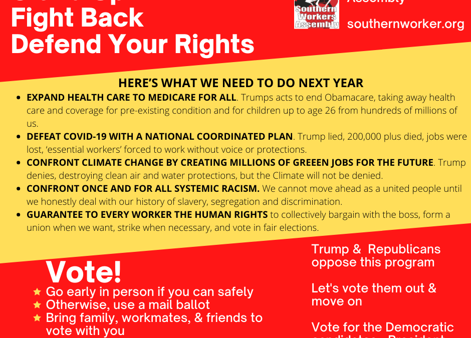 Stand Up – Fight Back – Defend Your Rights – Vote