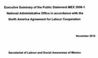 North American Agreement for Labor Cooperation ruling